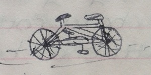 [Inexplicable drawing of a bike.]
