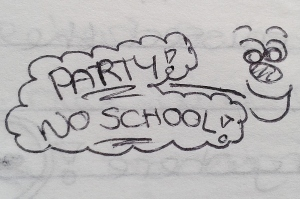 July 1996 - Party no school