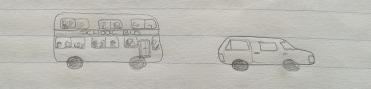 November 1996 - Bus and car