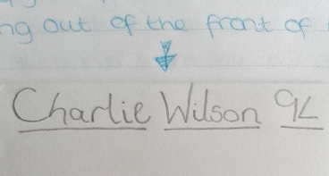 January 1996 - Charlie writing