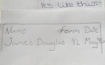 January 1996 - Dougie's writing