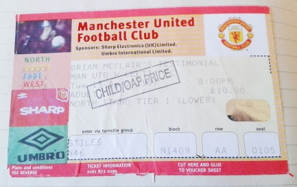 April 1997 - MUFC ticket