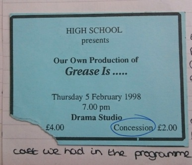 February 1998 - Grease ticket
