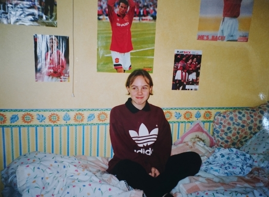 [Here I am in my Man Utd-filled room.]