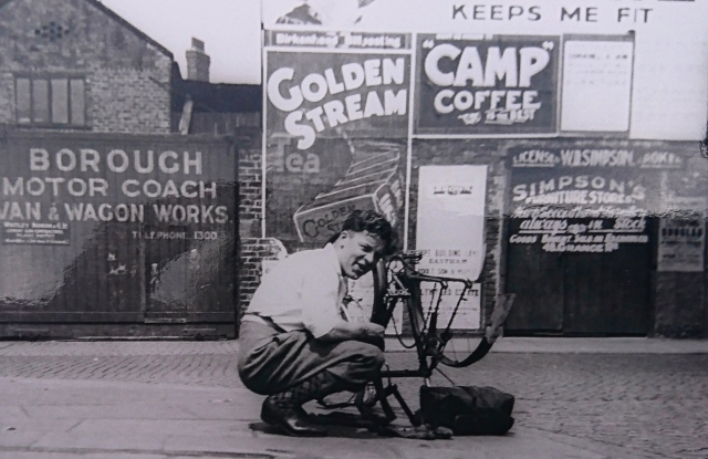 Grandad with bicycle
